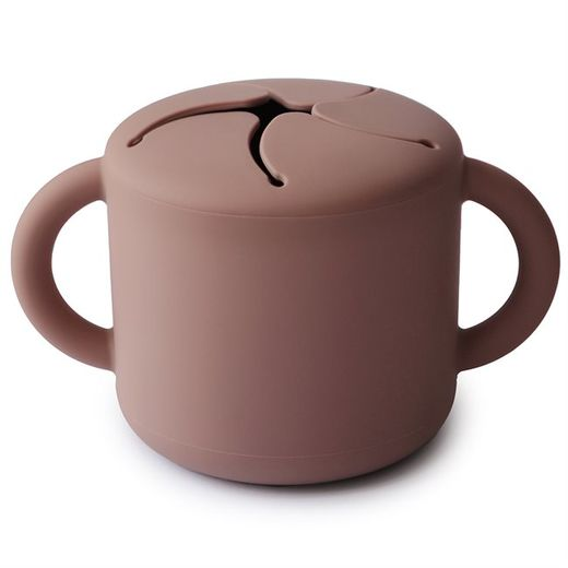 Mushie Snack cup, Cloudy Mauve